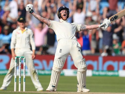 Ben Stokes celebration after her century.