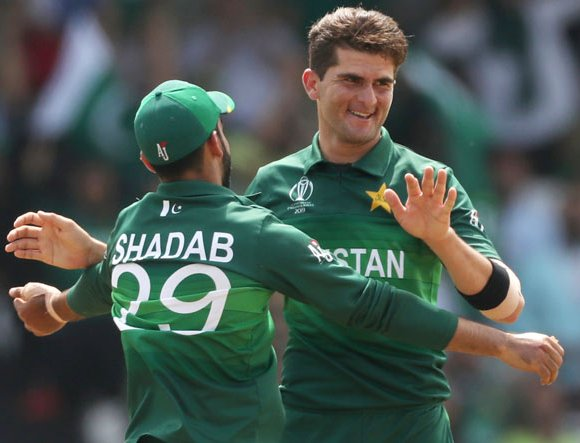 Shaheen Afridi is the celebting after take a wicket.