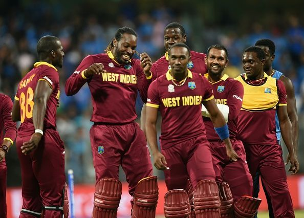 West Indies national cricket team celebrating after taking wicket, See celebrating moments Picture.