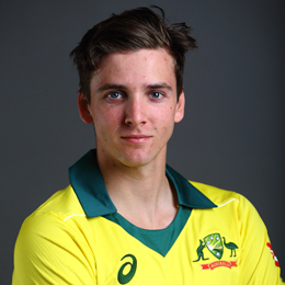 Jhye Richardson Profile Photo - Australian Cricketer Jhye Richardson's Wiki, Age, Bio, Cricket career stats, Records, ICC Ranking, Family along with latest Pictures, Images and News.