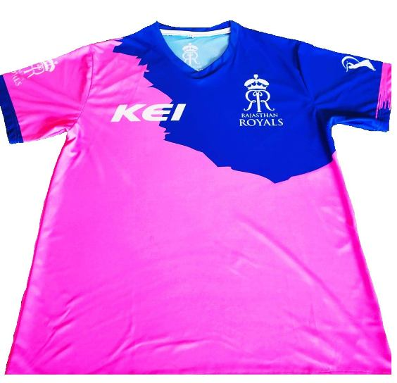 Rajasthan Royals - IPL Team RR jersey photo.