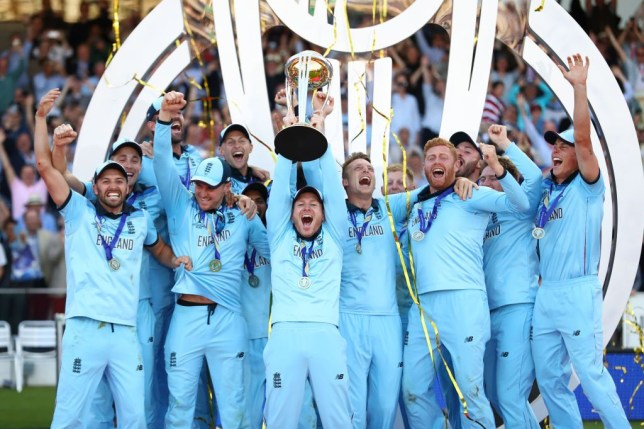 England national cricket team celebrate after cup win, See celebrating moments Picture.