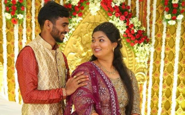 Kona Srikar Bharat with wife Anjali Nedunuri.