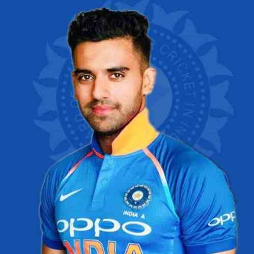 Deepak Chahar Profile Photo - India Cricket Player Deepak Chahar Stats Info, ICC Ranking, Records, Wiki, Family along with latest Images and News.