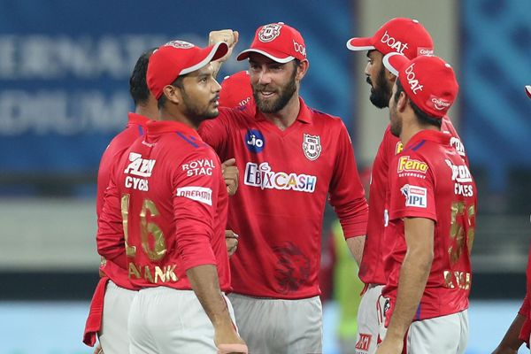 Kings XI Punjab celebrates the wicket of Shimron Hetmyer of Delhi Capitals during DC and KXIP in Dream 11 IPL.
