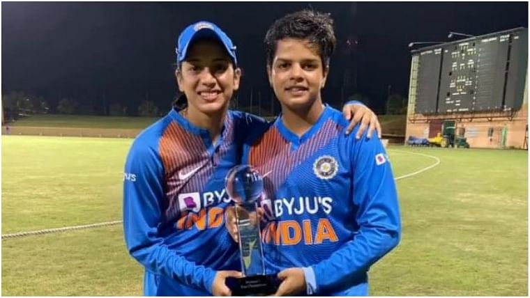 Shafali Verma with Smriti Mandhana