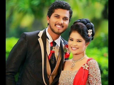 Dinesh Chandimal with wife