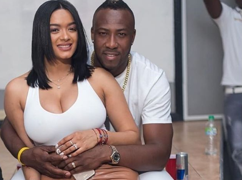 Andre Russell with his Wife Jassym Lora