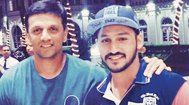 Anmolpreet Singh with Rahul Dravid