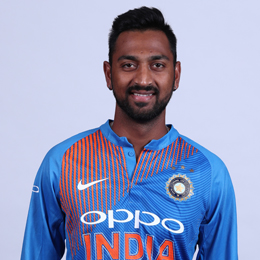 Krunal Pandya Profile Photo - Indian Cricketer Krunal Pandya Info, ICC Ranking, Records, Wiki, Family along with latest Images and News.