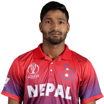 Dipendra Singh Airee Profile Photo - Nepalese Cricketer Dipendra Singh Airee's Wiki, Age, Bio, Cricket career stats, Records, ICC Ranking, Family along with latest Pictures, Images and News.