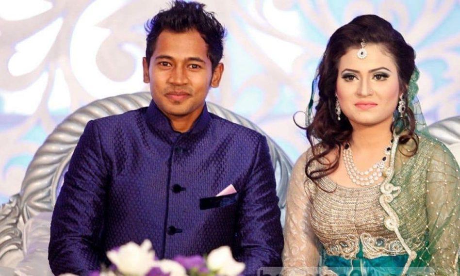 Mushfiqur Rahim with wife Jannatul Kifayet.