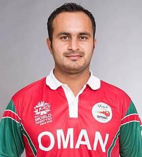 Zeeshan Maqsood Profile Photo - Omani Cricket Player Zeeshan Maqsood.