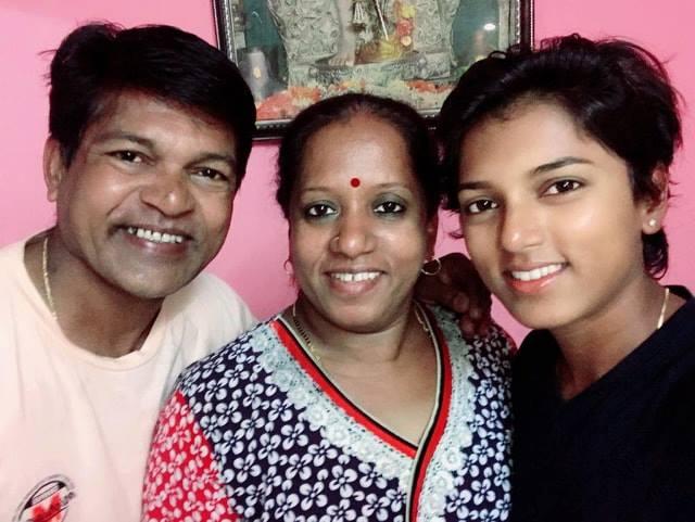 Punam Raut with family