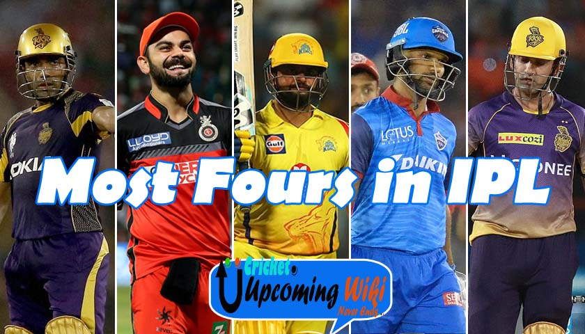 IPL 2021 Most Fours: IPL 2021 Most Fours by a Batsman in IPL history